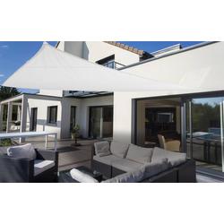 Dreiecksonnensegel weiß 460 cm mit Regenschutz
