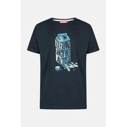 Derbe Laktose Herren T-Shirt Navy Dunkelblau