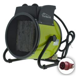TroniTechnik Carbonheizlüfter, Heizlüfter, Keramikheizung, Schnellheizer TT-KH-505 mit Keramikheizelement und Gestell, 5000 W schwarz