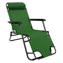 AMANKA Campingliege Campingstuhl Liegestuhl Freizeitliege Sonnenliege Campingliege Liege 153 cm grün