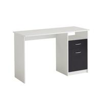 FMD Schreibtisch Jackson weiß / schwarz