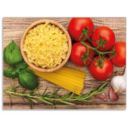 Wallario Schneidbrett Spaghetti mit Tomaten, Knoblauch und Basilikum, ESG-Glas, 30 x 40 cm