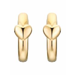 Creolen für Damen, Stainless Steel IP Gold, Herz Noelani Gold
