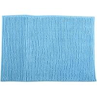 Badteppich Badvorleger Duschvorleger Chenille Hochflor Badematte 40x60 cm – Hellblau
