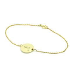 Goldarmband mit Diamanten und Gravur Shalek - personalisiert