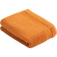 VOSSEN Duschtuch Balance (1-St), antibakteriell durch Hanf orange 67 cm x 140 cm