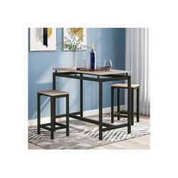 PHOEBE CAT Bartisch, 3-teiliges Stehtisch Set aus Eisenholz, Küchentisch und Stühle, Stehtisch und Barhocker, Bartisch und Stühle beige