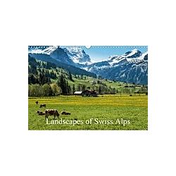 Landscapes of Swiss Alps (Wall Calendar 2021 DIN A3 Landscape)