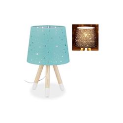 relaxdays Tischleuchte Tischlampe Kinderzimmer Sterne gr�n