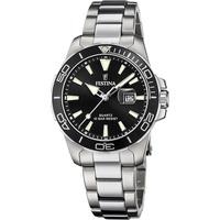 Festina Damen Analog Quarz Uhr mit Edelstahl Armband F20503/4