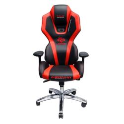 Fotel gamingowy E-Blue Auroza czarno-czerwony podświetlany