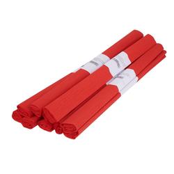 VBS Feinpapier Krepppapier Farbenfroh 50 x 200 cm, 10 Rollen rot
