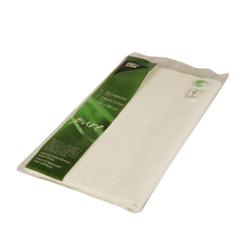 Papstar Pure Tischdecke, gefaltet, Gefaltete Papier-Tischdecke mit schöner Prägung aus 5-lagigem Tissue, 1 Packung = 1 Stück