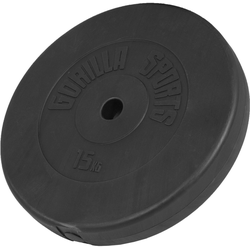 GORILLA SPORTS Hantel Hantelscheibe Kunststoff 15 kg, 15 kg