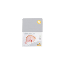 Bettlaken Spannbettlaken 2er Set, Jersey, rosa, 70 x 140 cm, Pinolino® grau