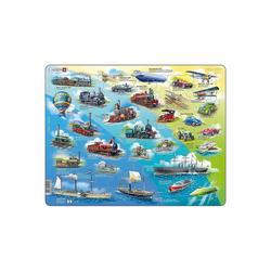 Larsen Puzzle Rahmen-Puzzle, 54 Teile, 36x28 cm, Historische, Puzzleteile