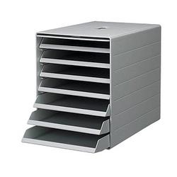 DURABLE Schubladenbox IDEALBOX PLUS grau DIN C4 mit 7 Schubladen
