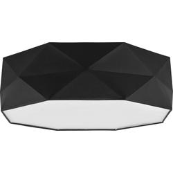 Licht-Erlebnisse Deckenleuchte ELLA Schwarze Deckenleuchte zeitlos dezent Wohnzimmerbeleuchtung Lampe