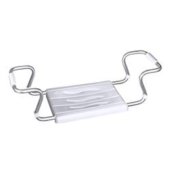 WENKO Secura Badewannensitz, Zum Einhängen am Badewannenrand, Breite 55-65 cm (verstellbar), Farbe: weiß