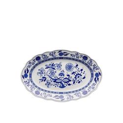 Hutschenreuther Servierteller Blau Zwiebelmuster Platte 38 cm oval, Porzellan