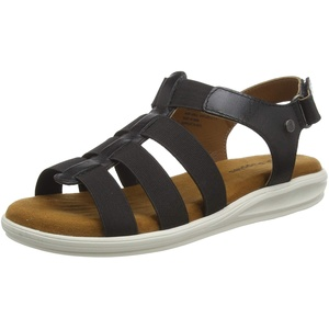 Hush Puppies Damen Hailey Römersandalen, Schwarz, 38 EU