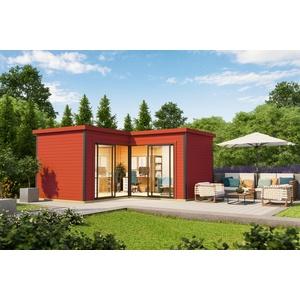 44mm Gartenhaus 500x500cm + Schiebetür + Fußboden Gerätehaus Holzhütte Holz Haus