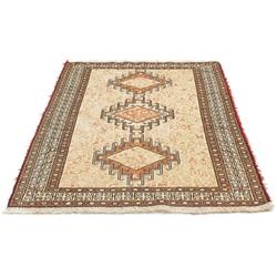 Teppich Ardebil Teppich handgeknüpft beige, morgenland, rechteckig, Höhe 8 mm