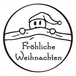 Weihnachten Holzstempel - Weihnachtsmann (Ø 40 mm)