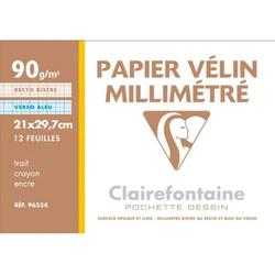 Millimeterpapier A4 weiß 90g/qm 12 Blatt