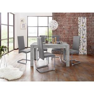 Homexperts Essgruppe Nitro, (Set, 7-tlg), Tisch - Breite 140 cm + 6 Stühle
