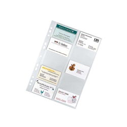 10 Visitenkarten-Hüllen für 10 Visitenkarten