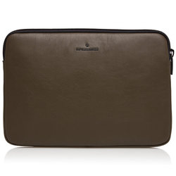 Castelijn & Beerens Nappa X Oscar Laptophülle RFID Leder 35 cm Laptopfach darkmilitary