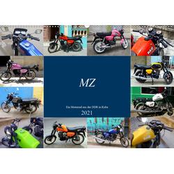 MZ - Ein Motorrad aus der DDR in Kuba (Wandkalender 2021 DIN A2 quer)