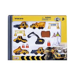 """Maisto® Spielzeug-Auto Volvo Baufahrzeuge 8cm """"Play-Set"""" mit 6 Fahrzeugen"""