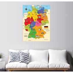 Posterlounge Wandbild, Bundesländer für Kinder 60 cm x 80 cm