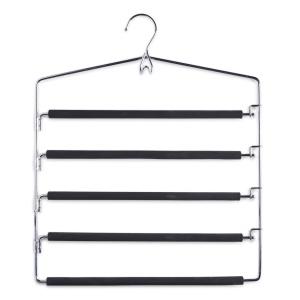 Zeller Mehrfach-Hosenbügel, Metall, Bügel zum platzsparenden und übersichtichen Aufhängen von Hosen, Maße: 37 x 44,5 cm
