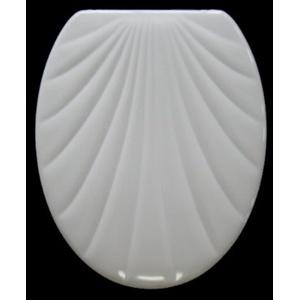 ADOB WC Sitz Klobrille Muschelform Duroplast, weiß, 14802