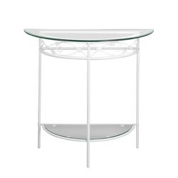 Konsole mit Glasplatten weiß ca. 76/85/40 cm