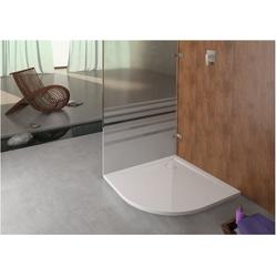 Hoesch Viertelkreis-Duschwanne MUNA 800 x 800 x 30 mm weiß