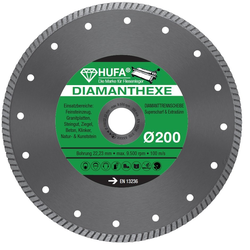 Hufa Fliesen Diamanthexe-scheibe Ø 200mm