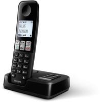 Philips D2551B DECT-Telefon Anrufer-Identifikation Schwarz
