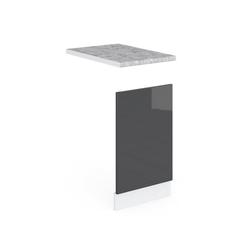 Vicco Frontblende Küche R-Line Geschirrspülblende 45 cm, verschiedene Farben grau
