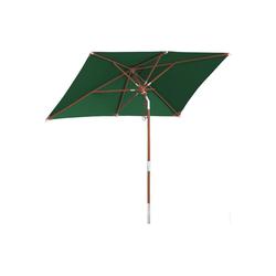 anndora-sonnenschirm Sonnenschirm Sonnenschirm rechteckig 2,5x1,5m Balkonschirm, Gartenschirm - Farbwahl grün