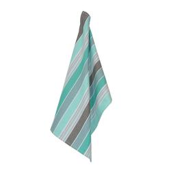 Solwang Vorratsglas 3er SOLWANG Geschirrtuch gestreift aqua grau BIO Baumwolle - MULTI PETROL