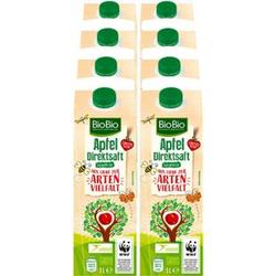 BioBio Apfelsaft 1 Liter, 8er Pack