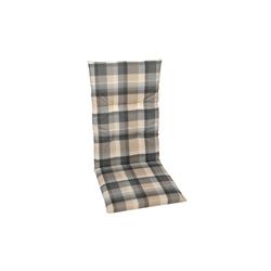 GO-DE Garten-Sesselauflage in grau/beige kariert