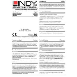 AV Konverter LINDY Konverter HDMI auf DP 4K30 USB [ - ]