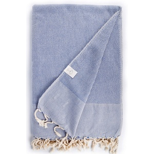 Bersuse 100% Baumwolle - Ventura XXL Strandtuch Sofa-Überwurf - Denim Blue