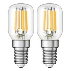 E14 LED Kühlschrank-Leuchtmittel klar T25 warmweiß 2700K 2W = 26W 250lm, 2 Stk.