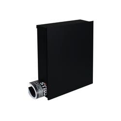 MOCAVI Briefkasten Design-Briefkasten mit Zeitungsfach schwarz (RAL 9005) MOCAVI Box 111 Wandbriefkasten 12 Liter
